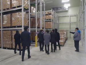 大手物流会社 冷凍倉庫内見学